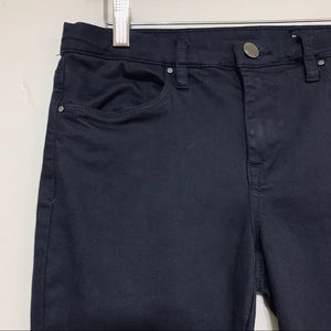 Blank NYC Black Denim Pants Ankle Lace Up Accent